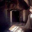 Ślubny makijaż w odcieniach złota i beżu